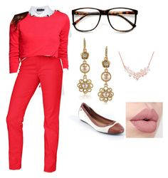 """""""teacher"""" by aknight77y ❤ liked on Polyvore featuring ZeroUV, Polo Ralph Lauren, Talbots, Carolee and G.H. Bass & Co."""