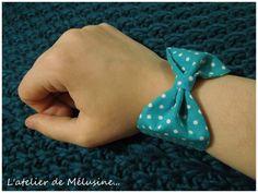 Bracelet nœud tissu