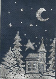 Trees Christmas Cross Stitch