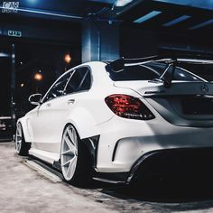 "37.2k Likes, 68 Comments - CARLIFESTYLE (@carlifestyle) on Instagram: ""✖️White on White C63. @darwinproaero X Mercedes Benz C63 IMP style wide body Follow [ @dpjack_ &…"""