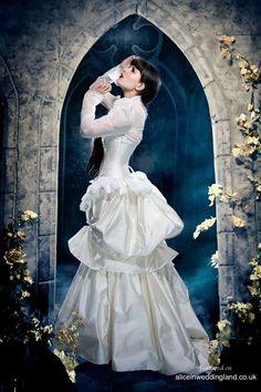 ALCHEMY Unique wedding dress KMKDesigns unique wedding blog022 Unique wedding dresses: out is white and in is attitude Wedding Blog