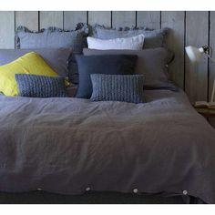 Lisbon Grey Linen Bed Linen Lifestyle