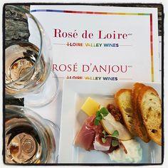 A gray #SanDiego Monday calls for colorful lunch. #rose #rosedeloire #rosedanjou #roseallday