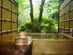 Japanese outdoor tub,LOVE IT!Total sereness,calming tranquility!