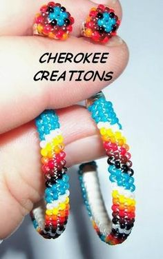 '2 PAIR Hanbeaded Buckskin Navajo Sterling Earrings' is going up for auction at 12am Thu, Sep 27 with a starting bid of $15.