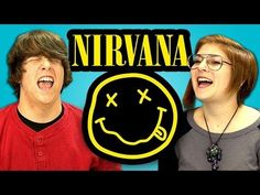 "TEENS REACT TO NIRVANA - part of a whole series of ""teens react."" Interesting format... maybe a WO piece?"