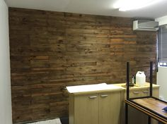 Antique Oak Stained Palette Wall