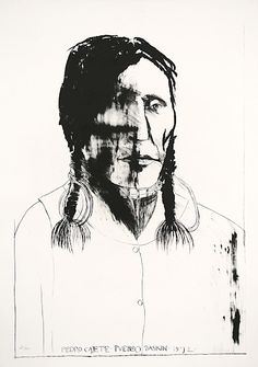 Leonard Baskin : Pedro Cajete, Pueblo at Davidson Galleries