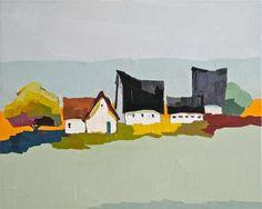 "Daily Paintworks - ""A Country Quartet"" - Original Fine Art for Sale - © Donna Walker"