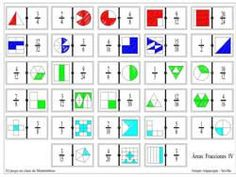 Diversos dominos: Fraccions, decimals, capacitat i volum. Primary Maths Games, Math Games, Math Activities, Fractions Équivalentes, Fraction Games, Dyscalculia, Math Art, Educational Games, Math Classroom