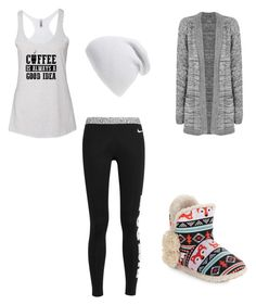 """Cute warm comfy outfit"" by fungiral on Polyvore featuring NIKE, WearAll, Kensie and Phase 3"