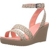 I have these in 3 colors. They are so comfortable. The buckle is unique. It doesn't unbuckle, it slides apart! Crocs Women's Leigh Wedge Sandal