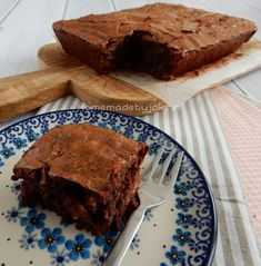 Brownies with walnut