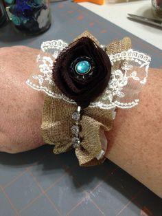 Shabby chic cuff bracelet.