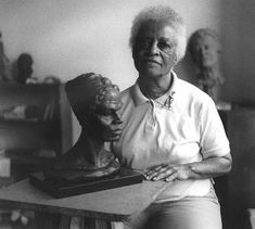 """""""Inge Ruth Hardison was an African-American female sculptor and artist of the 1930's. She was known for her unique collection of busts called Negro Giants in History. The busts were meant to give honor to the blacks that were not then depicted in the National Hall of Fame in Washington DC. Inge Hardison was also the only woman among the six artists who formed the Black Academy of Arts and Letters."""