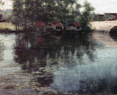 Great Paintings, Oil Paintings, River Painting, Art Students League, Woodstock, Oil On Canvas, Hand Painted, Rivers, Water