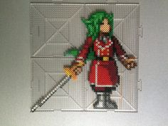Freed Justine - Fairy Tail perler beads by TehMorrison