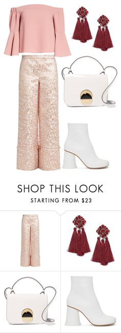 peach perfect by evipane on Polyvore featuring Topshop, Osman, MM6 Maison Margiela, Marni and Miss Selfridge