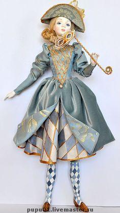 Collectible dolls handmade.  Fair Masters - handmade Columbine.  Handmade.