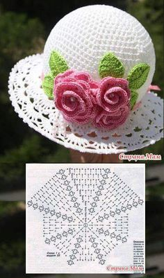Diy Crafts - Crochet Cloche Hat - Our post is filled with lots of Free Patterns - also known as Crochet Panama Hat Crochet Flower Hat, Crochet Summer Hats, Crochet Cap, Crochet Baby Booties, Crochet Motif, Crochet Stitches, Crochet Patterns, Baby Hats Knitting, Knitted Hats