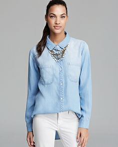 484ce56a43 must have faded chambray Jean Shirts
