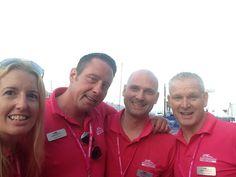 Jo, Steve K, Davide and Steve Crowe from the team Monaco Yacht Show, Polo Ralph Lauren, Mens Tops