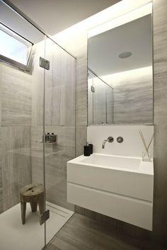 Modern Bathroom - cool and calming colour palette