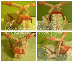 Southern Fried Gal: Diaper Tricycle Tutorial; I totally did this, and it was NOT cheap.  However, the parents still use everything from it to this day.  Therefore, it was a good investment.