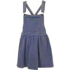 Petite Denim Jersey Pinafore Dress ($66) ❤ liked on Polyvore featuring dresses, skirts, overalls, bottoms, women, blue jersey, denim dress, petite jersey dress, petite dresses and denim pinafore dress