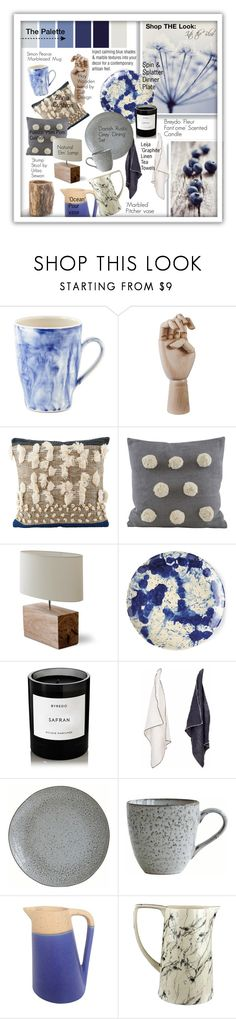 """Into the Blue: The Painter's Palette."" by style-queen-kc-nigz ❤ liked on Polyvore featuring interior, interiors, interior design, home, home decor, interior decorating, Simon Pearce, HAY, Garden Trading and Juliska"
