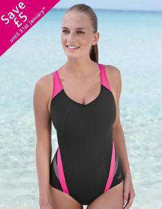 Zoggs Women/'s New Resort Double X Back Maillot de bain Taille UK 8