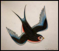 Winter Sinking Strokes: Swallow tattoo