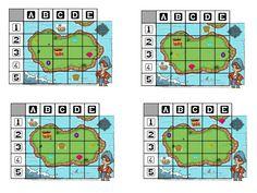 voici quelques supports pour compléter le jeu du trésor dess pirates. J'ai fait ce complément pour pouvoir utiliser plus longtemps ce jeu et surtout pouvoir aussi l'exploiter seul. Il y a donc des... Pirate Preschool, Pirate Activities, Preschool Math, Fun Math, Toddler Activities, Pirate Party Games, Year 1 Maths, Calico Jack, Computational Thinking