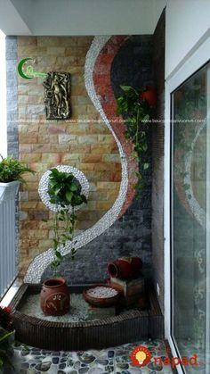 tieu canh ban cong can ho 3 - Salvabrani Apartment Balcony Garden, Small Balcony Garden, Small Balcony Decor, Balcony Plants, Apartment Balcony Decorating, House Plants Decor, Plant Decor, Balcony Ideas, Modern Balcony