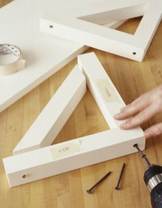 How to make shelves and brackets