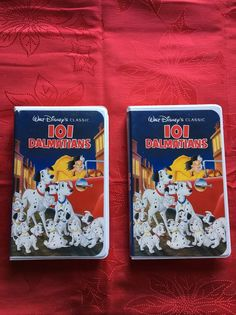 RareCollectible Disney VHS 1992 2 Black Diamond 101 Dalmatians With Lead On  Tape