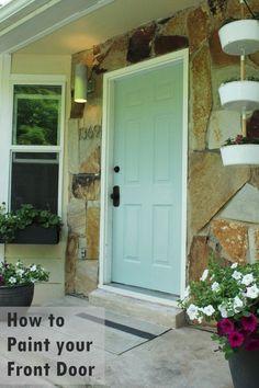 how to paint an exterior door as in shut the front door. Black Bedroom Furniture Sets. Home Design Ideas