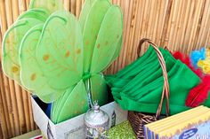 Tinkerbell Wings and Peter Pan Hats {A Never Never Land Inspired} Peter Pan 4th Birthday!