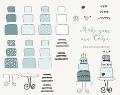 This item is unavailable Make Your Own, Make It Yourself, How To Make, Cake Clipart, 1 Image, Png Format, All Design, Clip Art, Notes