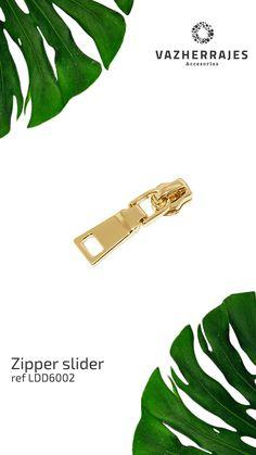Zipper Sliders para tus Colecciones! #ZipperSliders #Zipper #Sliders #Deslizadores #Herrajes #Marroquineria #cuero #Bolso #Mosquetones #Cartera #Moda #Tendendencias2019 Sliders, Plant Leaves, Zipper, Photo And Video, Instagram, Leather, Zippers, Romper