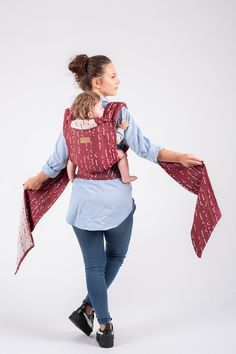 Joy, Love, Happy, Together, One, Life. Six essential babywearing words embedded in a magical collection. Inspired by the unique language of love, in nuances of burgundy-ruby and dusty cream, ISARA Quick Ruby Code symbolizes timeless tenderness and infinite freedom. All The Feels, Morse Code, Love Languages, Babywearing, Infinite, Freedom, Burgundy, Bell Sleeve Top