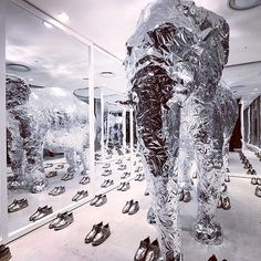 "DOVER STREET MARKET GINZA, Japan, ""Thom Browne will 'shine' at the elephant space at DSMG"", pinned by Ton van der Veer"