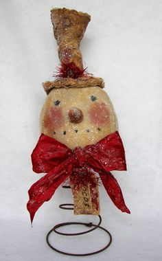 The Primitive Nook Vintage Snowman Nodder pdf E-Pattern OFG FAAP by primitivenook on Etsy https://www.etsy.com/listing/60340967/the-primitive-nook-vintage-snowman