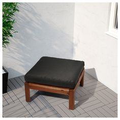 IKEA - ÄPPLARÖ Table/stool section, outdoor brown stained