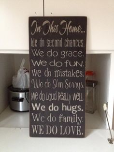 Good things to do in any home ...