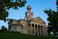 Vicksburg Courthouse at Dawn -- The historic courthouse building which stands over Vicksburg, Mississippi - a central structure during the 1863 siege of the city.