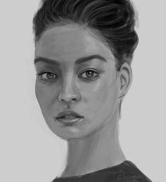 Shanina Shaik by JESSICA GUETTA , digital painting  jessicaguetta.tumblr.com