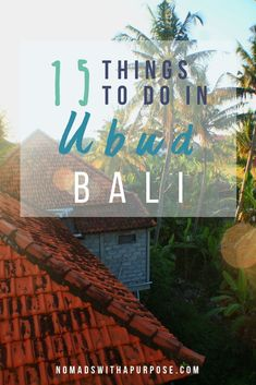 Ubud is a cultural h