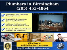 (205) 453-4864 Water where it's not supposed to be? Our Master Plumbers in Birmingham AL. have been turning wrenches since 1916, for 5 generations! Call now-$25 OFF COUPON!.