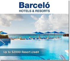 Para obtener cupón de descuento en los Hoteles Barceló Resorts de Mexico haz click http://cuponesdescuentos.com.mx/hoteles-barcelo